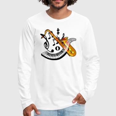 Saxophone - Men's Premium Long Sleeve T-Shirt