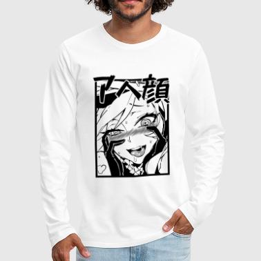 Ahegao - Men's Premium Long Sleeve T-Shirt