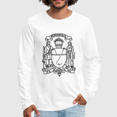 Bentonville Coat of Arms in black - Men's Premium Long Sleeve T-Shirt