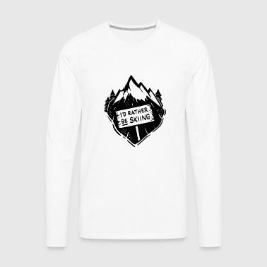 Skiing Snow Mountains Slalom Travel - Men's Premium Long Sleeve T-Shirt