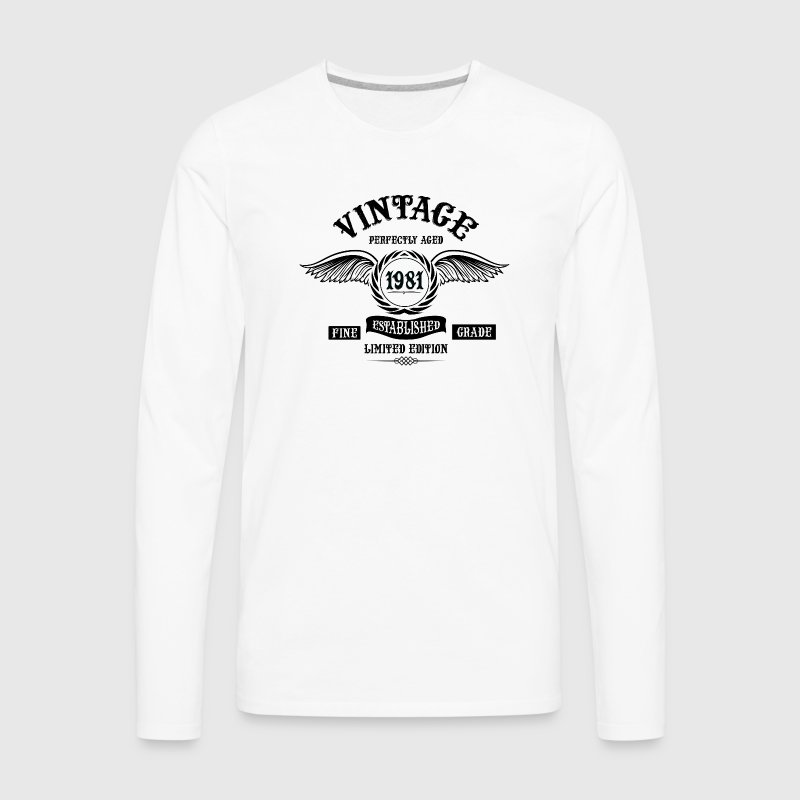 Vintage Perfectly Aged 1981 - Men's Premium Long Sleeve T-Shirt