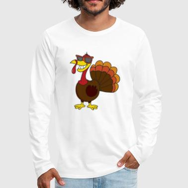 Poultry Turkey Thanksgiving Gobbler Poultry - Men's Premium Long Sleeve T-Shirt