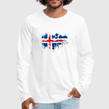 flag norwegian splash Europe scandinavia - Men's Premium Long Sleeve T-Shirt