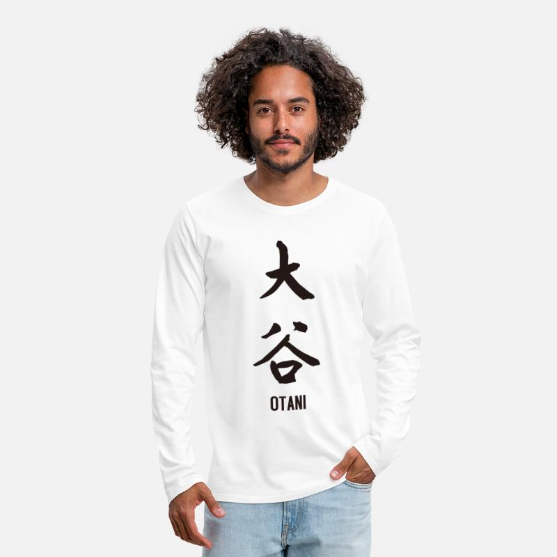 Chinese Characters Long sleeve shirts - Otani in kanji - Men's Premium Longsleeve Shirt white