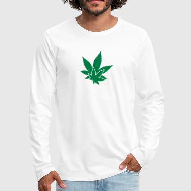 Hemp Leaf Hemp Leaf - Men's Premium Long Sleeve T-Shirt