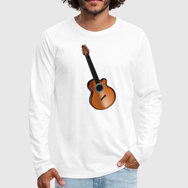 Acoustic Guitar - Men's Premium Long Sleeve T-Shirt