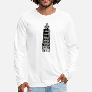 Inclined Tower leaning tower of pisa - Men's Premium Longsleeve Shirt