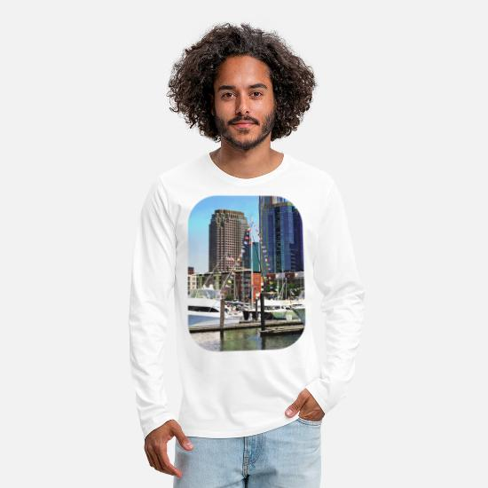 Boat Long-Sleeve Shirts - Jersey City NJ - Boat Pennants - Men's Premium Longsleeve Shirt white