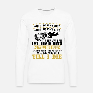 60e4cab2c funny Truck Trucker Men's Premium T-Shirt | Spreadshirt