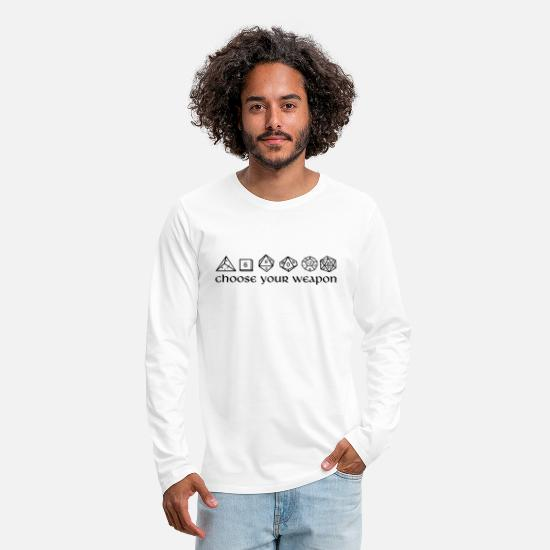 Dungeons And Dragons Long-Sleeve Shirts - choose your weapon - Men's Premium Longsleeve Shirt white