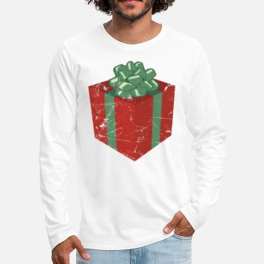 Christmas Present Vintage Christmas Present and Holiday Gift Package - Men's Premium Longsleeve Shirt