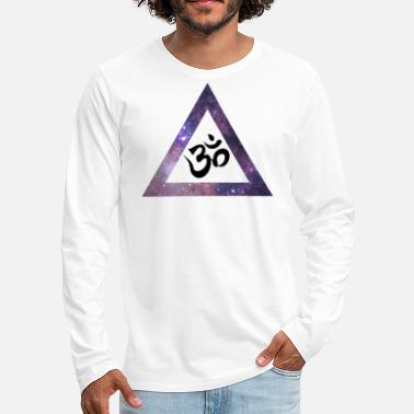 Psy Trance Psy Trance goa om Triangle - Men's Premium Long Sleeve T-Shirt