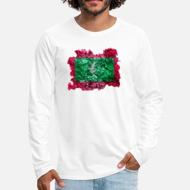 Maldives Maldives Vintage Flag - Men's Premium Long Sleeve T-Shirt