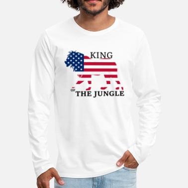 USA - King of The Jungle - Men's Premium Longsleeve Shirt