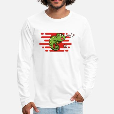 Stick Out Chameleons stick out the tongue - Men's Premium Longsleeve Shirt