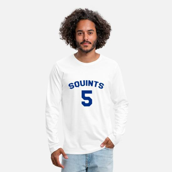 Squints Long-Sleeve Shirts - The Sandlot Jersey Squints 5 - Men's Premium Longsleeve Shirt white