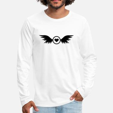 circle heart with wings - Men's Premium Longsleeve Shirt