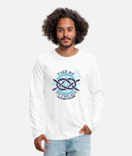 Travel Bug Long-Sleeved Shirts - Take me to the Sea - Gift idea - Men's Premium Longsleeve Shirt white