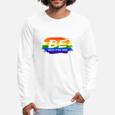 Painting Be who you are LGBT Gay Pride CSD Queer - Men's Premium Longsleeve Shirt