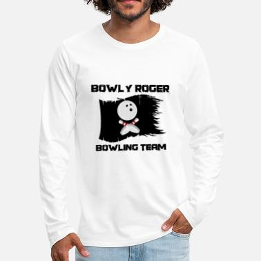 Crossed Bones Bowly rogers bowling team - Men's Premium Longsleeve Shirt