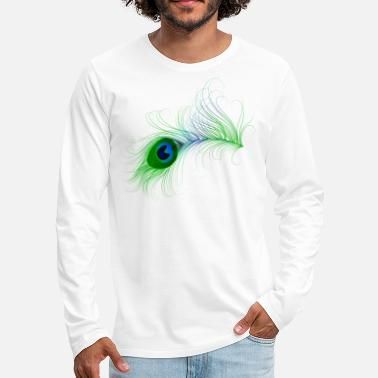 Peacock Peacock Feather - Men's Premium Long Sleeve T-Shirt