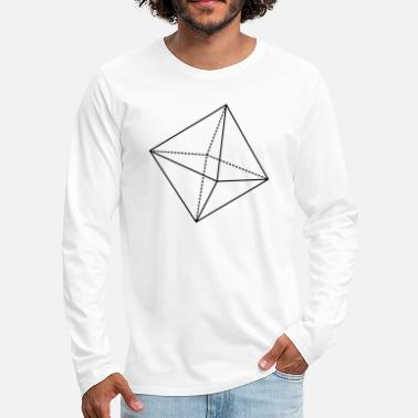Octahedron Octahedron Geometry Present Art Design Black - Men's Premium Long Sleeve T-Shirt