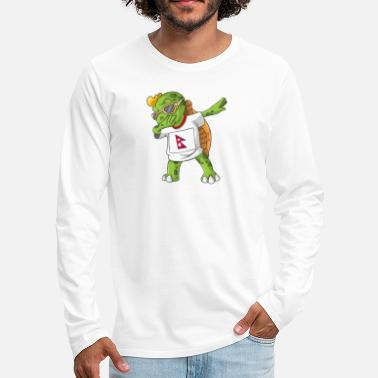 Nepal Nepal Dabbing Turtle - Men's Premium Long Sleeve T-Shirt