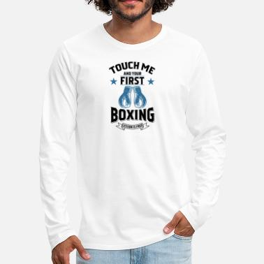Kangaroo Touch Me and Your First Boxing Lesson is Free gift - Men's Premium Long Sleeve T-Shirt