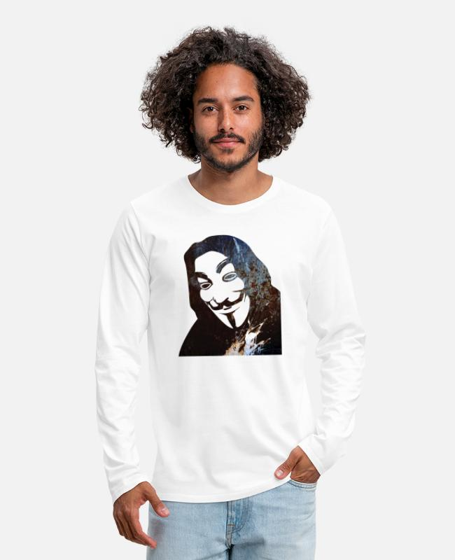 Anon Long-Sleeved Shirts - Anonymous - Men's Premium Longsleeve Shirt white