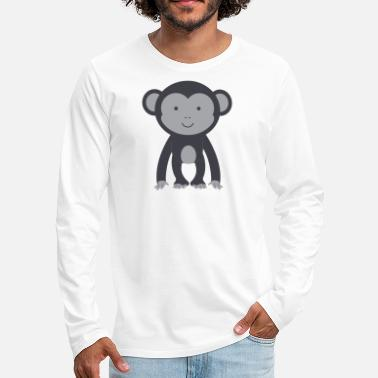 Jungle monkey animal gift cute banana jungle cool - Men's Premium Long Sleeve T-Shirt