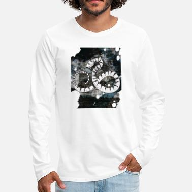 Snake White Snake - Men's Premium Long Sleeve T-Shirt