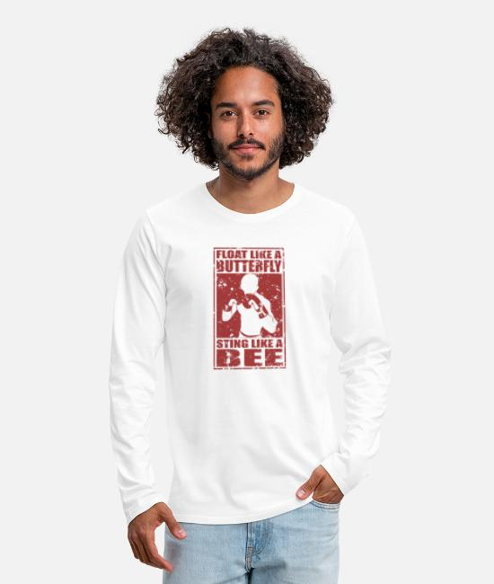 Float Like A Butterfly Sting Like A Bee Long-Sleeved Shirts - Sting like a Bee - Men's Premium Longsleeve Shirt white