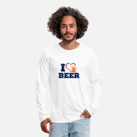 Mallorca Long-Sleeve Shirts - I Hearth Beer Beer T-Shirt - Men's Premium Longsleeve Shirt white