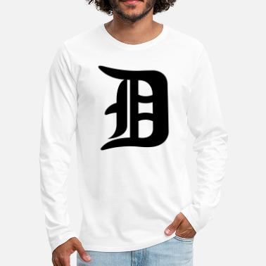 Detroit Vs Everybody Detroit D - Men's Premium Longsleeve Shirt