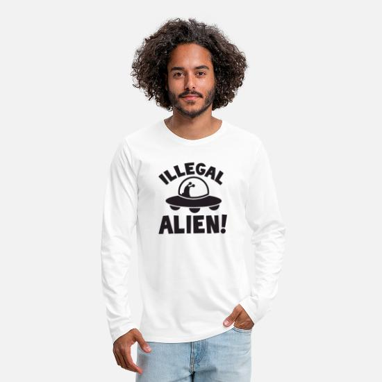 Illegal Long-Sleeve Shirts - illegal alien - Men's Premium Longsleeve Shirt white