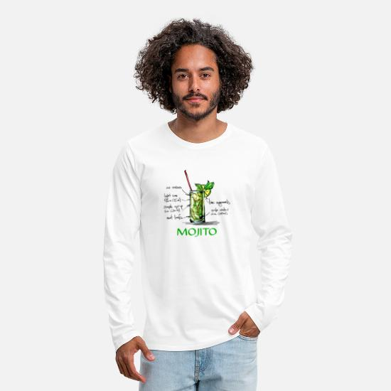 Bartender Long-Sleeve Shirts - Mojito - Men's Premium Longsleeve Shirt white