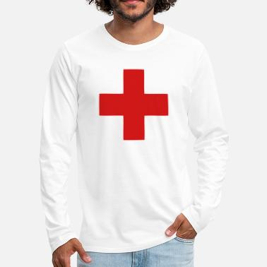 Cross A Red Cross - Men's Premium Longsleeve Shirt