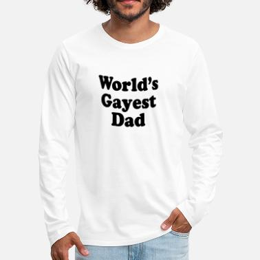 Beard Dad Worlds gayest dad 01 - Men's Premium Longsleeve Shirt
