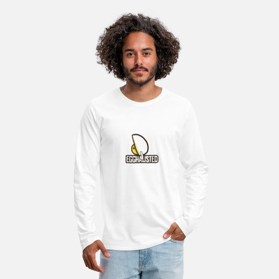 Expression Long-Sleeve Shirts - Egghausted - Puns - D3 Designs - Men's Premium Longsleeve Shirt white