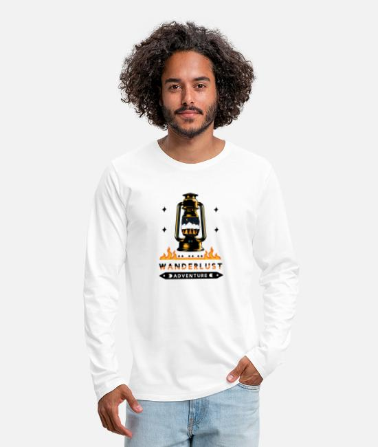 Travel Bug Long-Sleeved Shirts - Wanderlust Adventure travel - gift idea - Men's Premium Longsleeve Shirt white