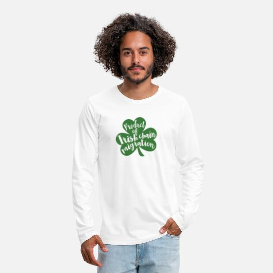 We Long-Sleeve Shirts - St Patty's Day Shamrock St Patrick's Day Immigrant - Men's Premium Longsleeve Shirt white