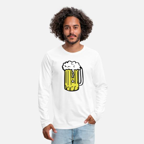 Miscellaneous Long-Sleeve Shirts - beer - Men's Premium Longsleeve Shirt white