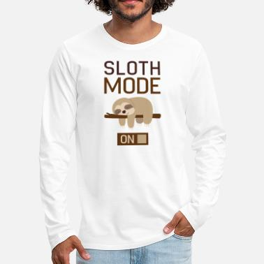 Anns Selection Sloth Mode On - Men's Premium Longsleeve Shirt