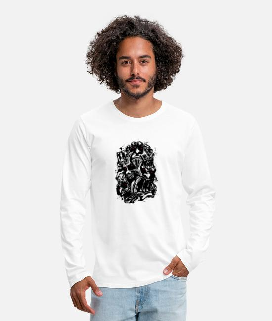 Pop Art Long-Sleeved Shirts - Disorder Face - Men's Premium Longsleeve Shirt white