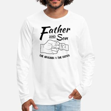 Son Father and Son fist bump - Men's Premium Longsleeve Shirt