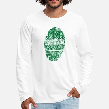 Saudi Arabia Fingerprint - Men's Premium Longsleeve Shirt