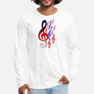 Music Musical Notes - Men's Premium Long Sleeve T-Shirt