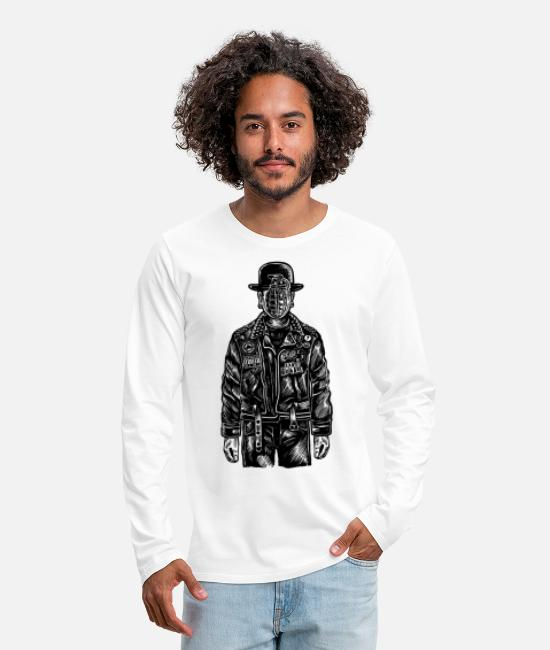 Explosion Long-Sleeved Shirts - The Son Of Grenade - Men's Premium Longsleeve Shirt white