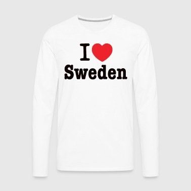 I love Sweden - Men's Premium Long Sleeve T-Shirt