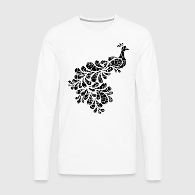 Peacock Shirt - Men's Premium Long Sleeve T-Shirt